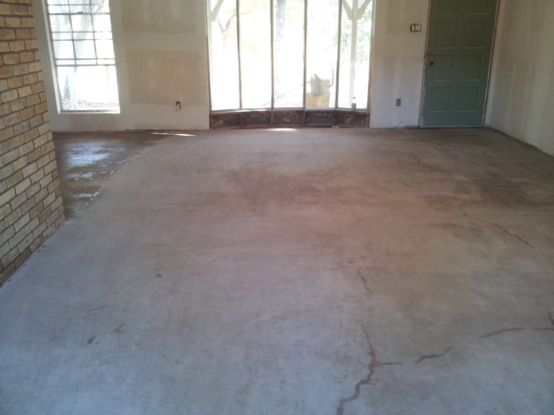 Residential concrete polishing texas concrete for Residential concrete floor wax